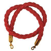 Канат для ограждения с карабинами L=1,5м (плетенный)
